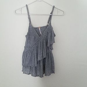 Free People Gray Tank Top